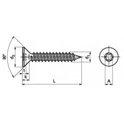 Microviti Testa Svasata Piana Torx ISO 14581
